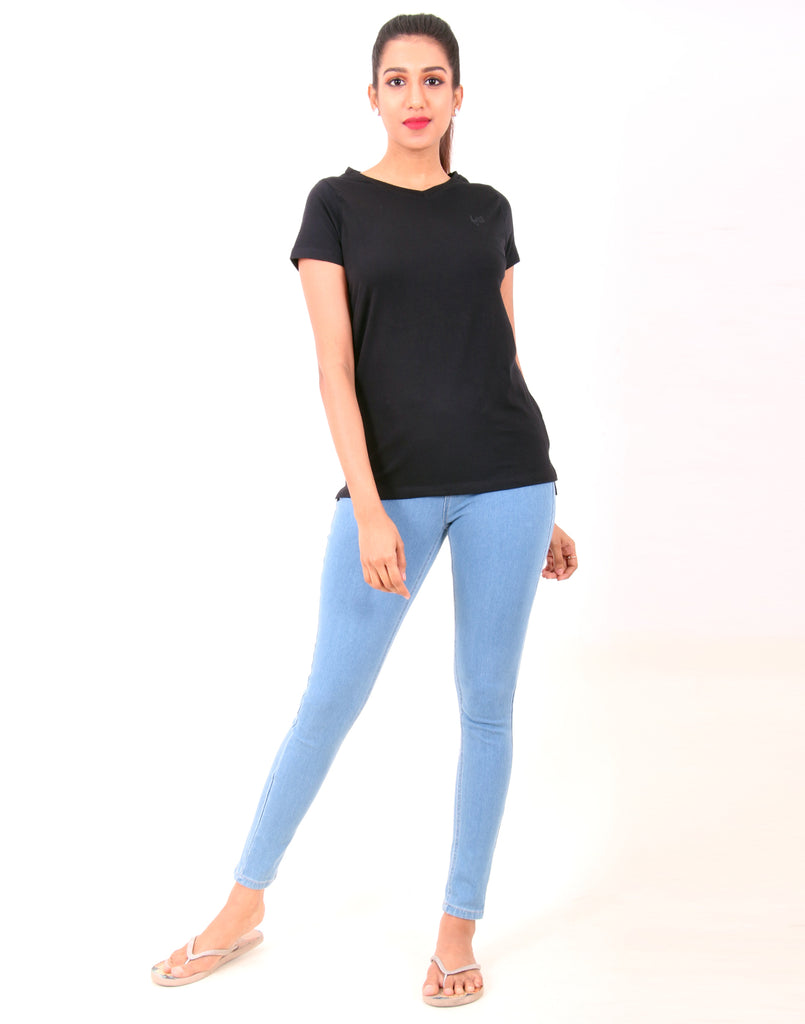 Black  Solid  T-shirt