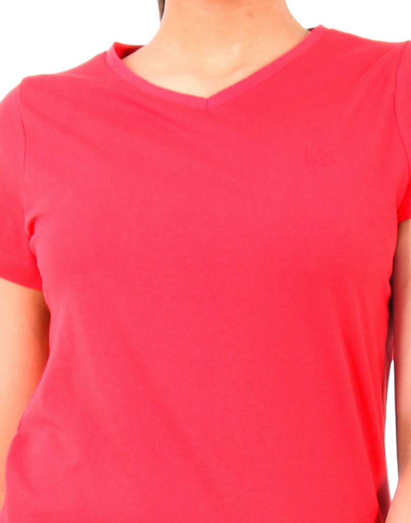 Chinese  Red  Solid  T-shirt