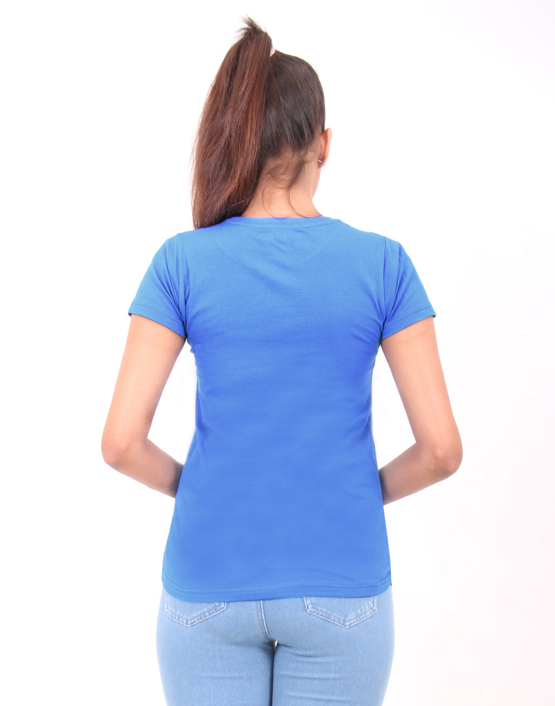 Brilliant Blue Printed T-shirt