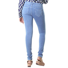 eSTYLe Light Blue Casual Solid Modern Jeggings