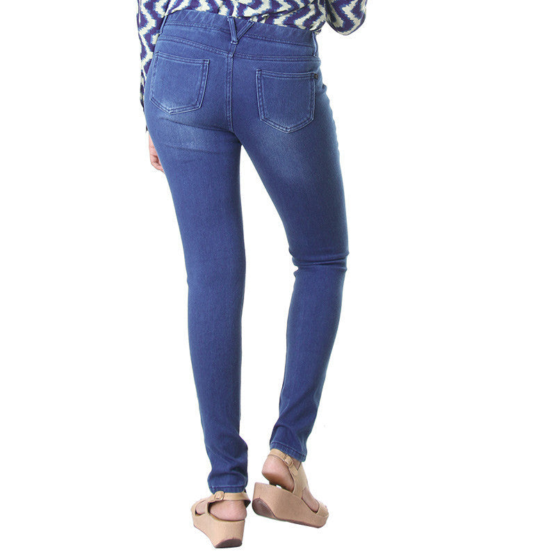 eSTYLe Ensign Blue Fashion Choice Solid Jeggings