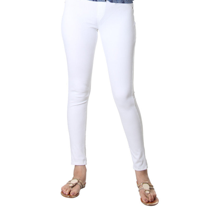 Bright White Western Solid Jegging From eSTYLe.
