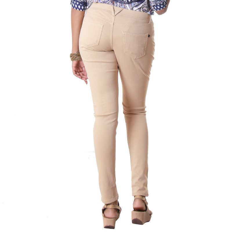 Cuban Sand Indo-Western Solid Jegging From eSTYLe.