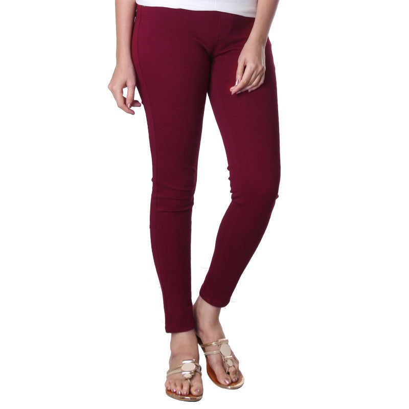 Beet Red Solid Western Jegging From eSTYLe.