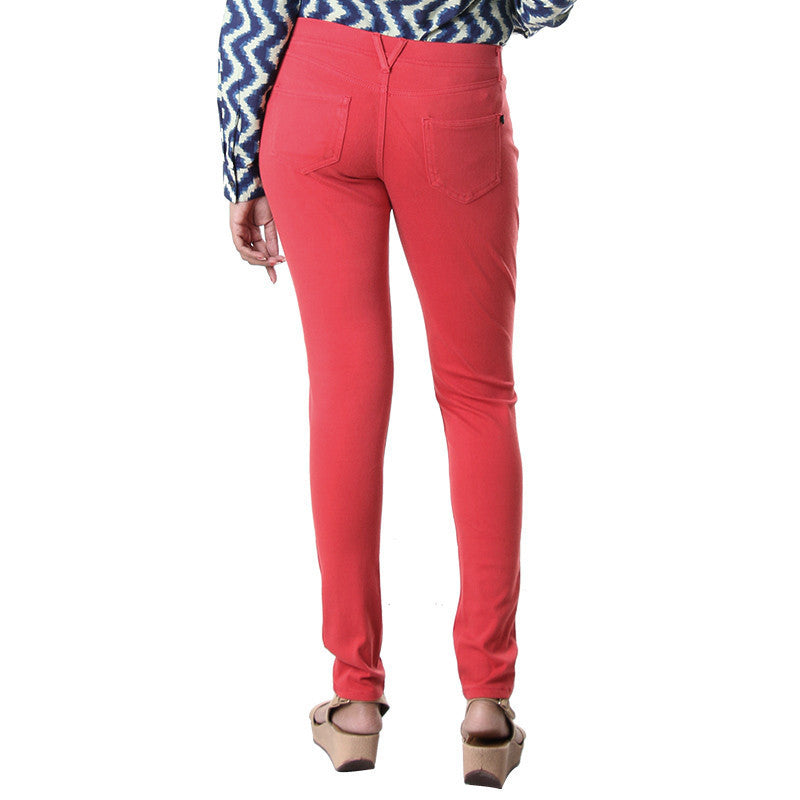 eSTYLe Lipstick Red Solid Trendy Jeggings For Casual Wear