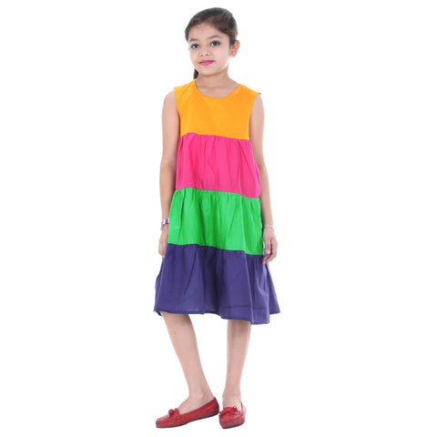 Multicolor Trendy Frock from eSTYLe For Kids