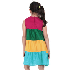 Kids Multicolor Trendy Frock from eSTYLe