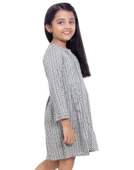 Jet Black Rayon Frock for Girls