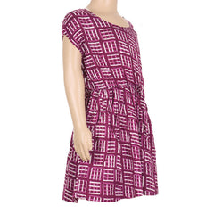 Baton Rouge Purple Cap Sleeves Gown From eSTYLe Girls