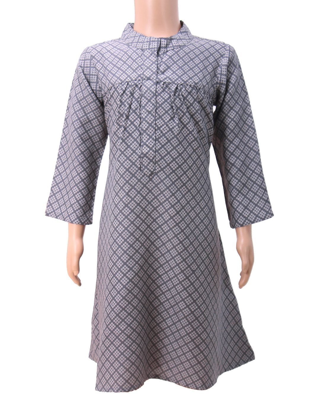 Grey Rayon Frock for Girls