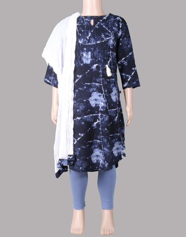 Blue Rayon Salwar Suit For Girls