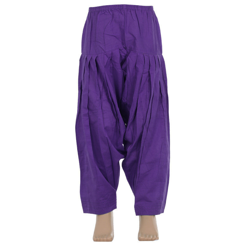 Heliotrope Violet Pure Cotton Patiala From eSTYLe Girls