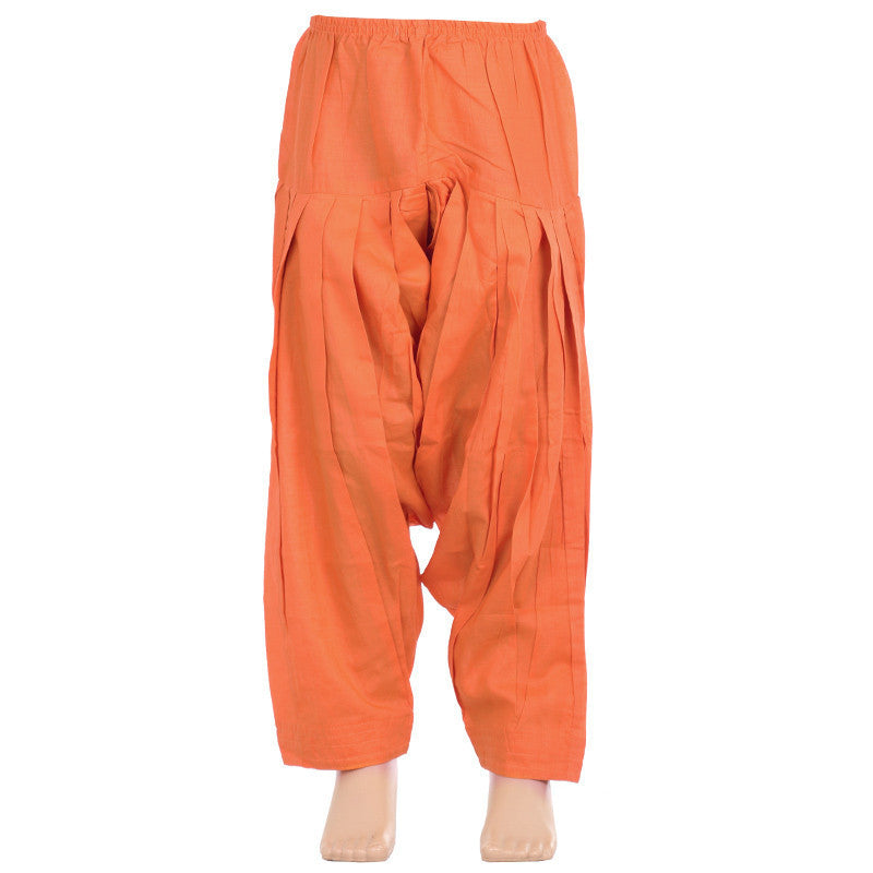 Lollipop Orange Pure Cotton Patiala From eSTYLe Girls