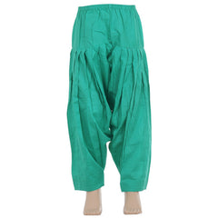 Porcelain Green Pure Cotton Patiala From eSTYLe Girls
