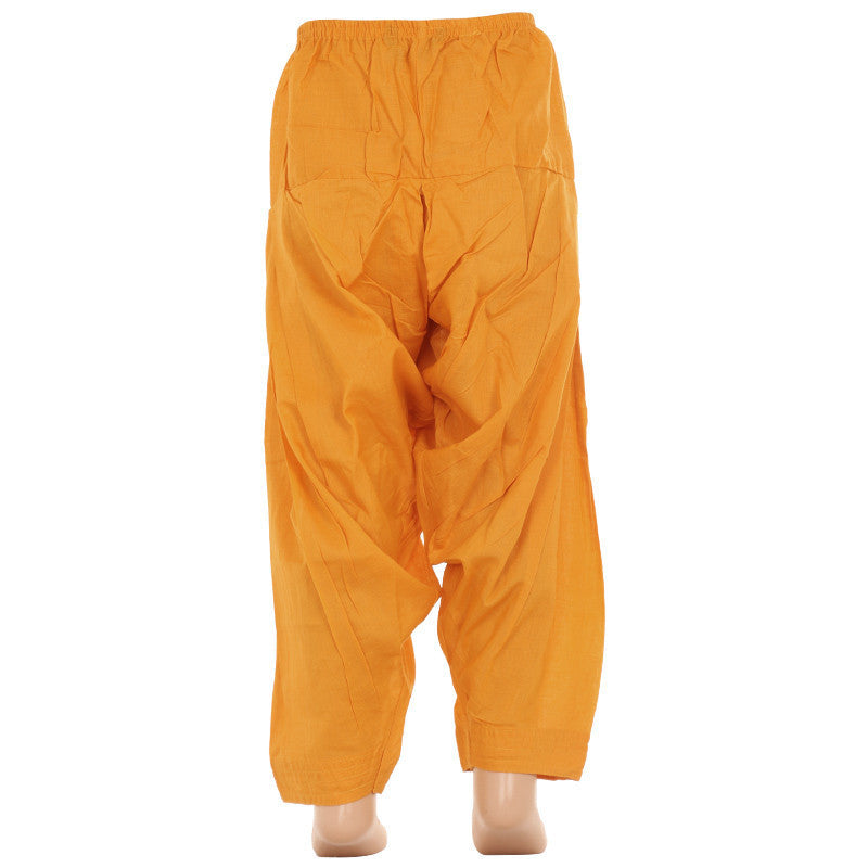 Butterscotch Yellow Pure Cotton Patiala From eSTYLe Girls