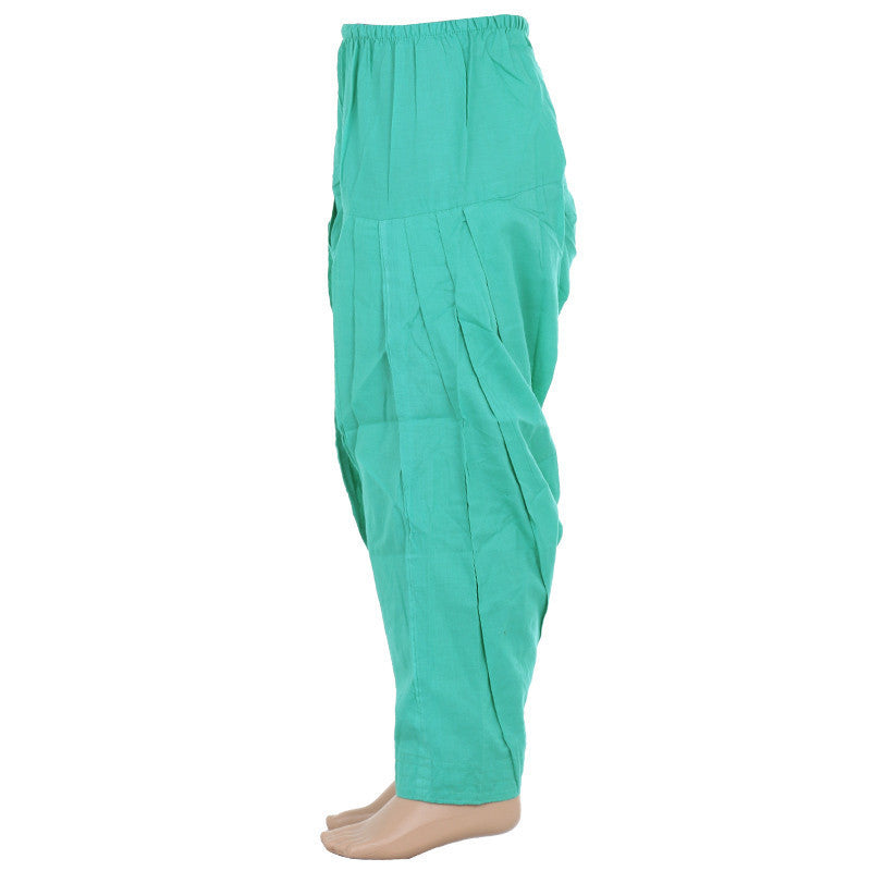 Atlantis Green Pure Cotton Patiala From eSTYLe Girls