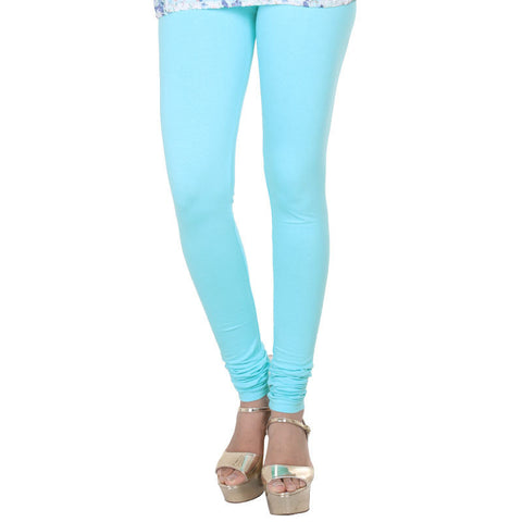 eSTYLe Angel Blue Colour Pure Lycra Cotton Stretchable leggings