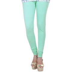Dusty Jade Green Lycra Cotton Stylish Leggings From eSTYLe
