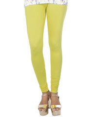 Linden Green Cotton Lycra Churidhar Leggings