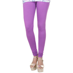 Iris Orchid Violet Colour Lycra Cotton Smart Leggings From eSTYLe
