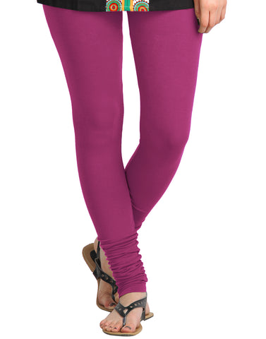 Wild Aster Cotton Lycra Churidhar Leggings