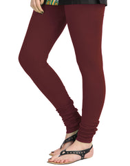 Tawny Port Cotton Lycra Churidhar Leggings