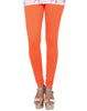 Flame Orange Cotton Lycra Churidhar Leggings