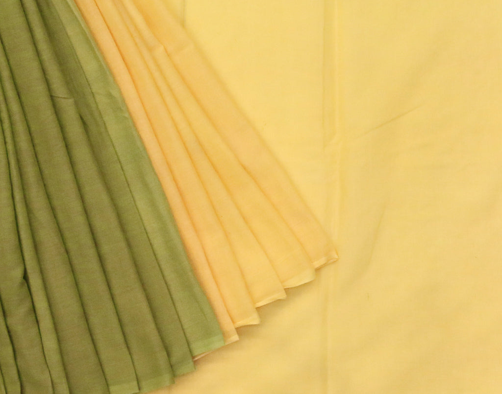 Green 'N' Yellow Pure Cotton Saree