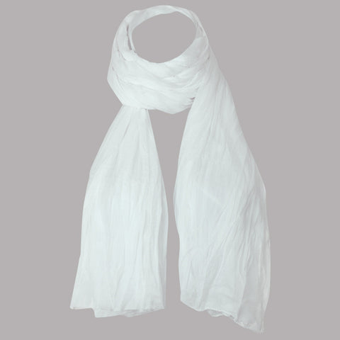 White Ultra Soft Chiffon Dupatta From eSTYLe