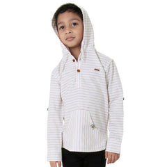 Ice Boys - Red Striped Full Sleeve Closed Collar Cotton Shirts