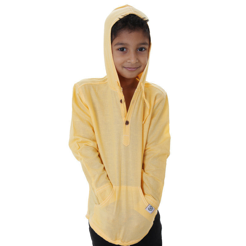 Ice Boys - Mango Yellow Full Sleeve Cotton Hoodies