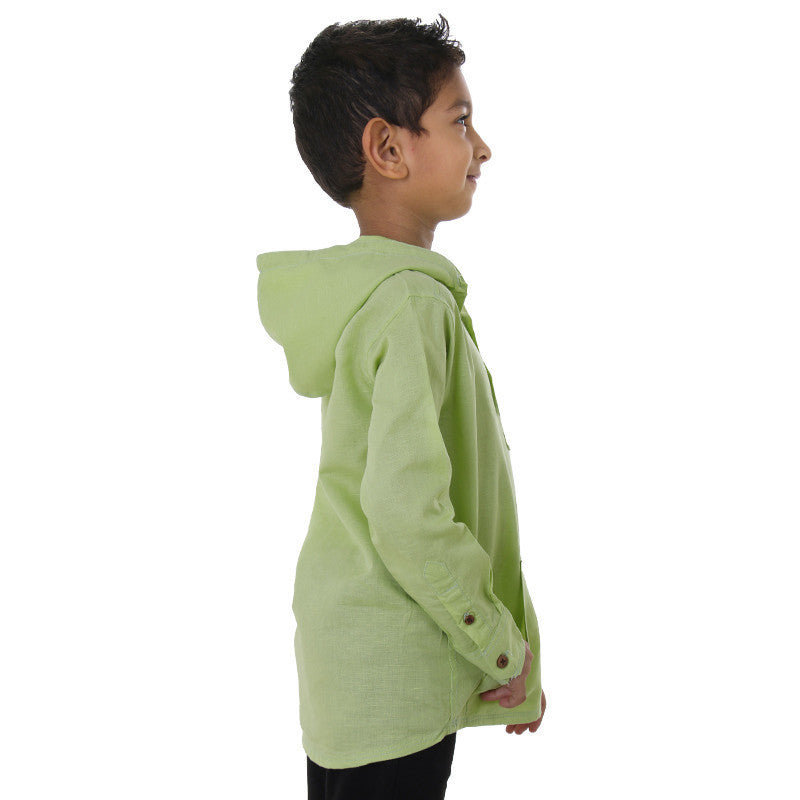 Ice Boys - Lime Green Full Sleeve Cotton Hoodies