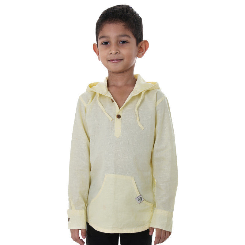 Ice Boys - Mild Yellow Full Sleeve Cotton Hoodies
