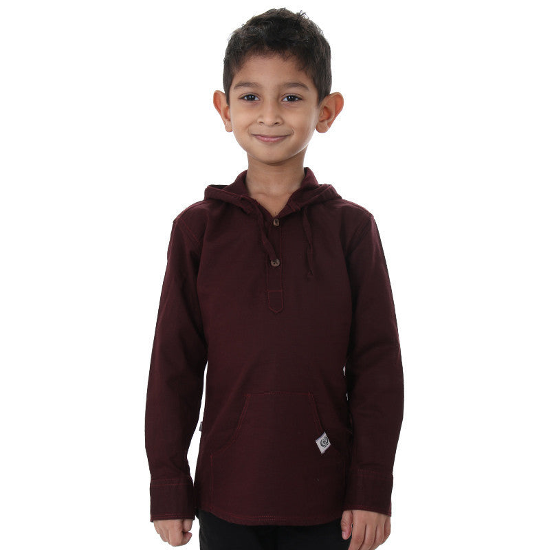 Ice Boys - Maroon Full Sleeve Cotton Hoodies