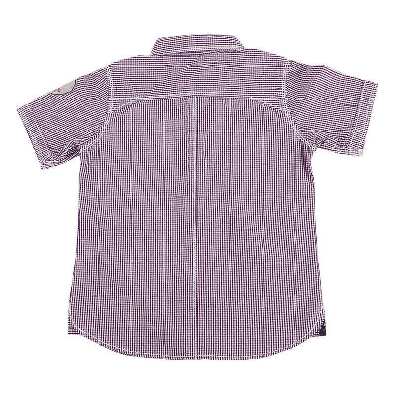 Jim & Jam - Purple And White Checked Half Sleeve Shirts