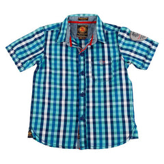 Jim & Jam - Shades Of Blue Checked Half Sleeve Shirts
