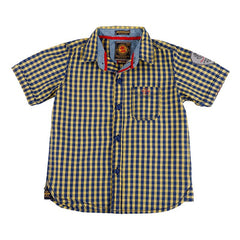 Jim & Jam - Blue And Yellow Checked Half Sleeve Shirts