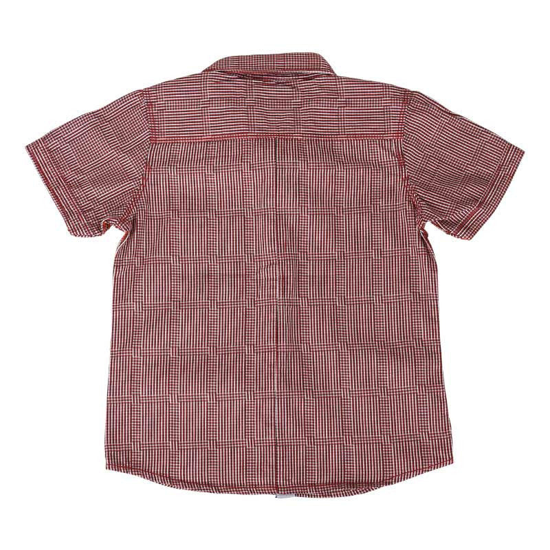 Einstein - Dark Red And Black Mini Checked Cotton Half Sleeve Shirts