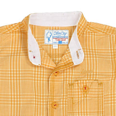 Biker Boys - Yellow Criss Cross Checked Cotton Half Sleeve Shirts