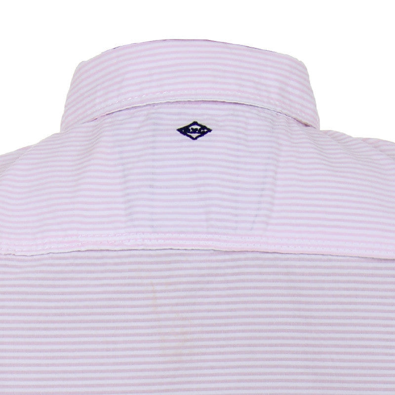 Einstein - Mild Pink 'N White Striped Cotton Half Sleeve Shirts