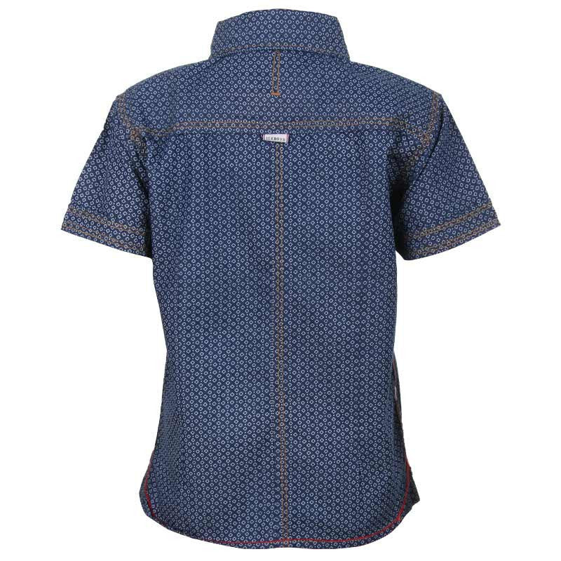Ice Boys -Small Dice Printed Denim Half Sleeve Shirts