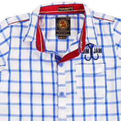 Jim & Jam -  Blue Checked Half Sleeve Shirts
