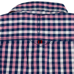 Jim & Jam - Lavender And Blue Checked Half Sleeve Shirts
