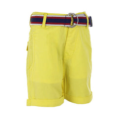 Ice Boys - Yellow Shorts For Boys With Belt