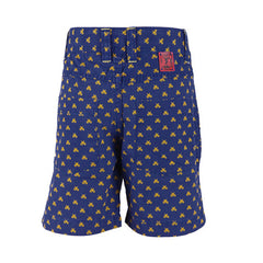 Ice Boys - Scissors All Around Blue With Yellow Cotton Printed Shorts For Boys