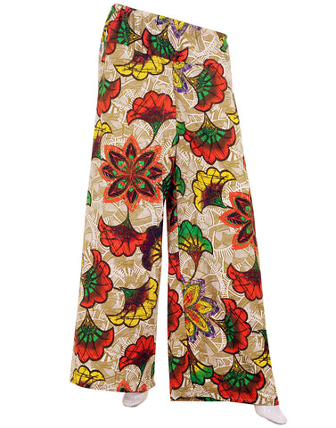 eSTYLe Floral Multicolour Printed Rayon Palazzo Pants