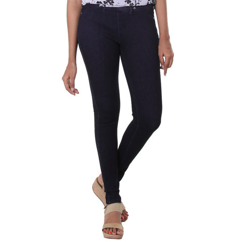 eSTYLe Ultramarine Blue Solid Modern Jeggings