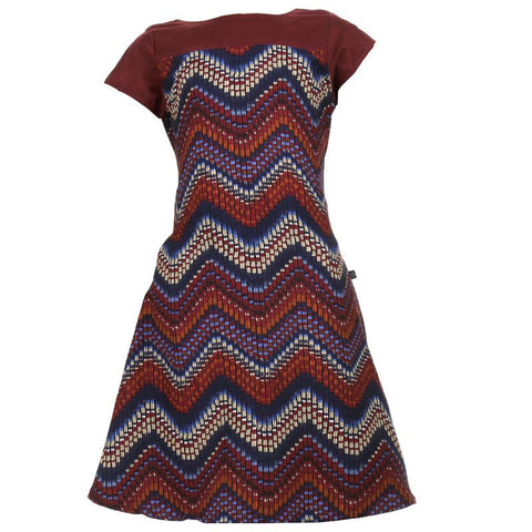 ZigZag Printed Kurta For Kids In Maroon Shade
