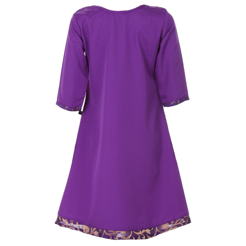 Deep Violet Anarkali With Brocade Yoke