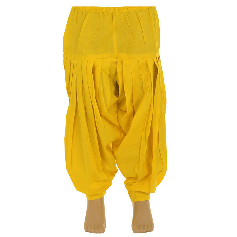 Kids Blazing Yellow Colour Patiala Bottom From eSTYLe